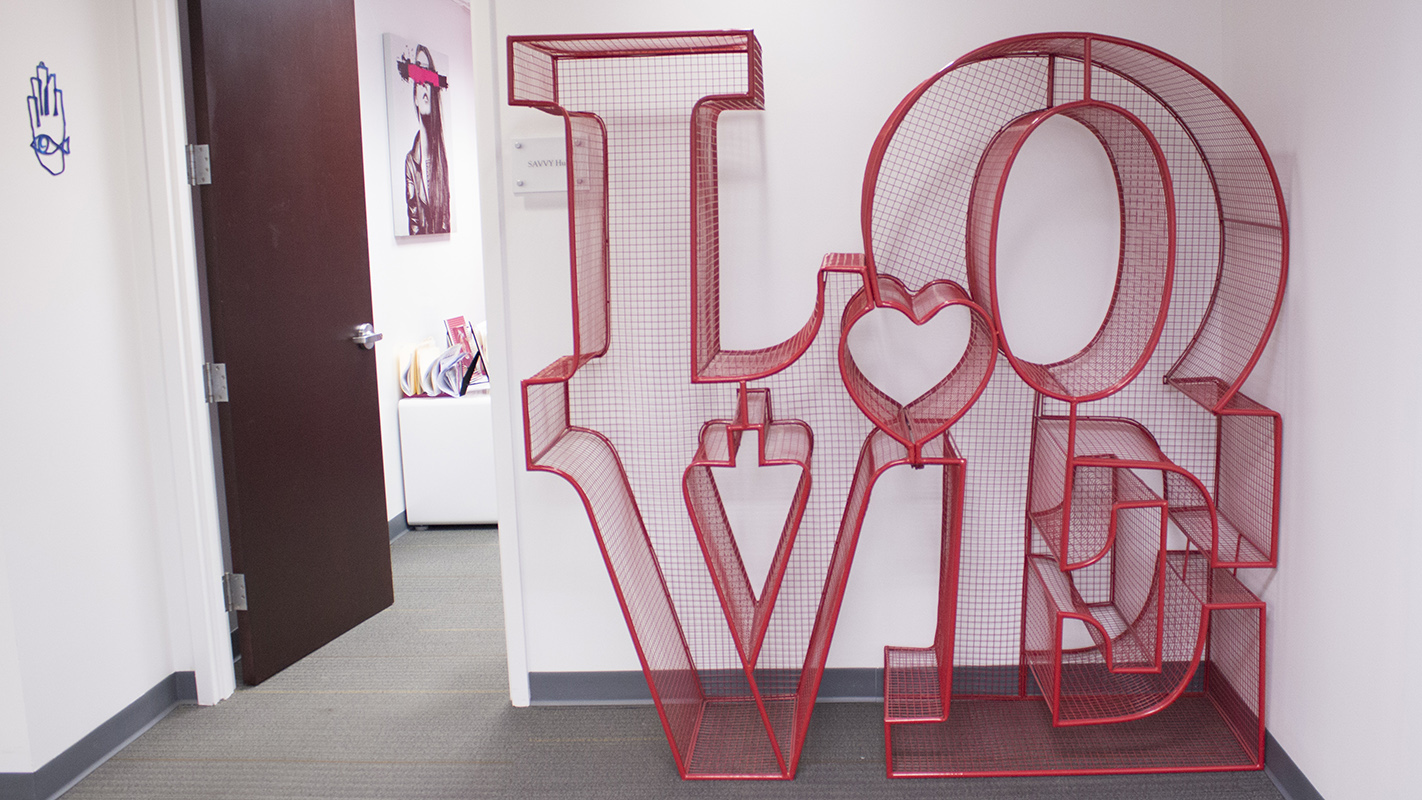 Office love sculpture